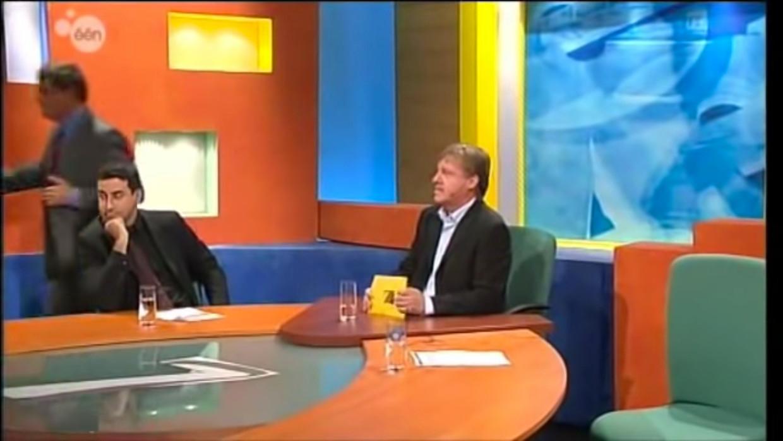 Filip Dewinter liep in 2002 weg uit de studio van 'De zevende dag' omdat hij boos was en zich door Pim Fortuyn liet inspireren. Beeld rv