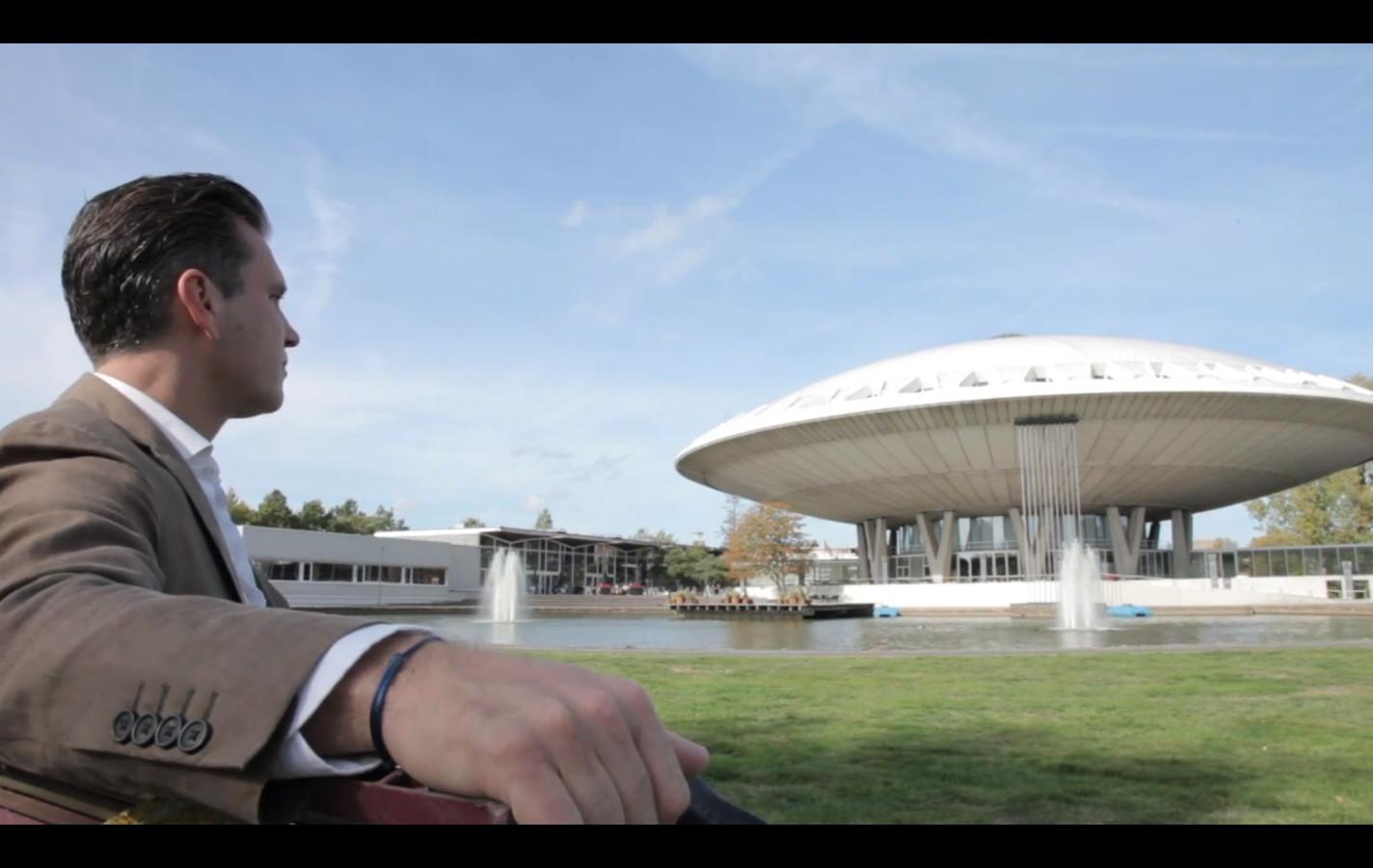 Lee Foolen van Foolen & Reijs Vastgoed, een van de partners in het plan Evoluon Innovation Park in Eindhoven.