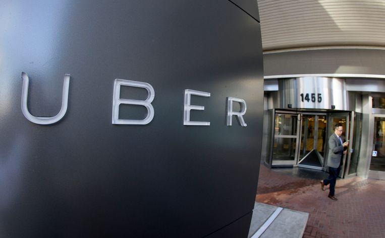 Het hoofdkantoor van Uber in San Francisco. Beeld AP