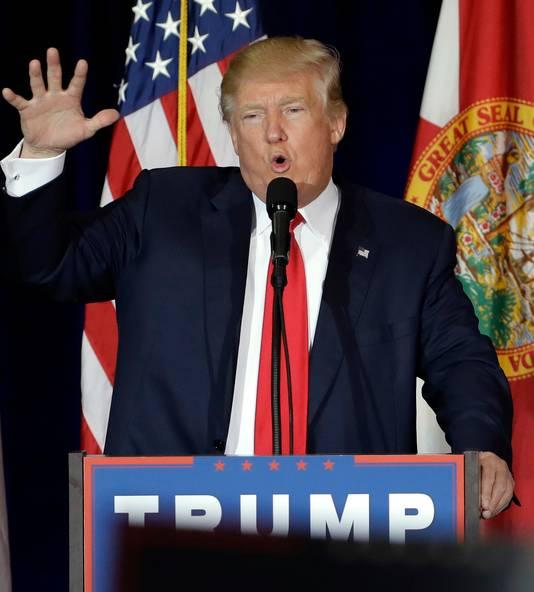 Donald Trump voerde vandaag in een laatste spurt voor de verkiezingen nog campagne in Florida, één van de Swing States.