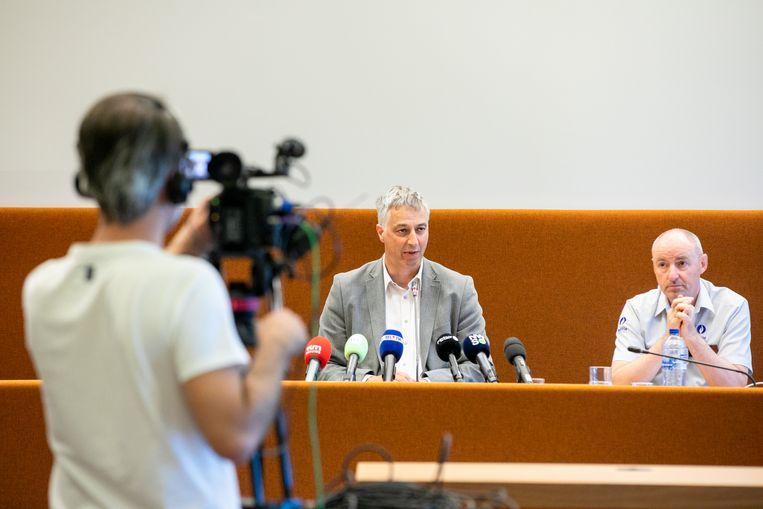 Procureur Guido Vermeiren en Limburgs FGP-directeur Kris Vandepaer zijn iedereen die de kidnapping geheim hield dankbaar.