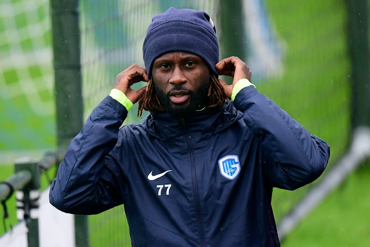 GENK, BELGIUM - OCTOBER 1 :  Dieumerci Ndongala forward of Genk pictured during a training session of KRC Genk prior to the Group stage Champions League Group E match between KRC Genk and Napoli on October 01, 2019 in Genk, Belgium, 1/10/2019 ( Photo by Peter De Voecht / Photonews