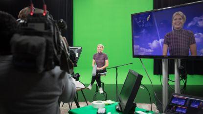Nathalie Meskens in de wolken als omroepster