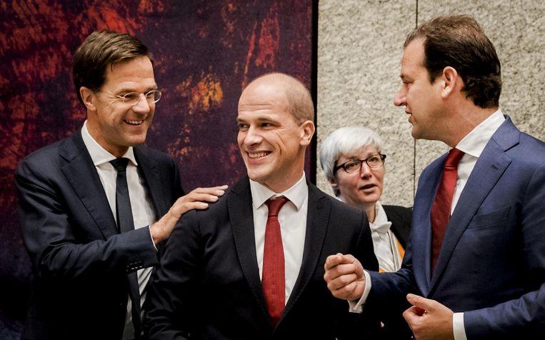 Premier Mark Rutte en Diederik Samson in 2016. Beeld anp
