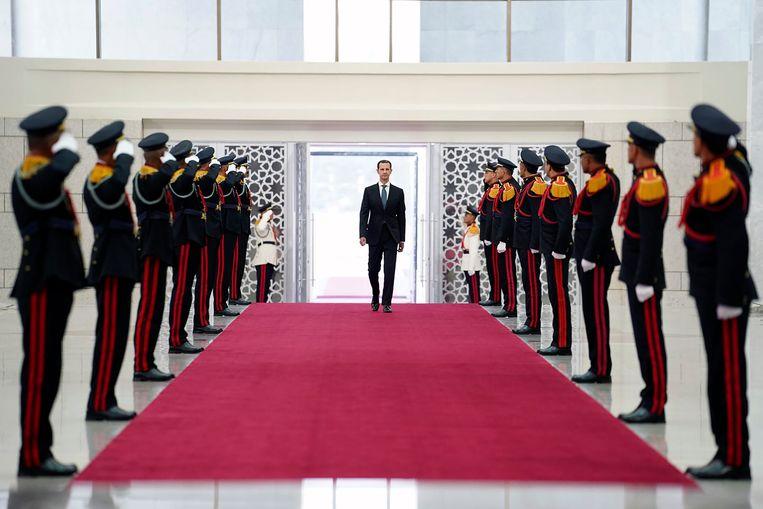 In Syrië is dictator Bashar Al-Assad (55) nog steeds aan de macht. Beeld AP