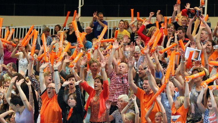 De sfeer was er bij de Nederlandse fans niet minder om. Beeld pro shots
