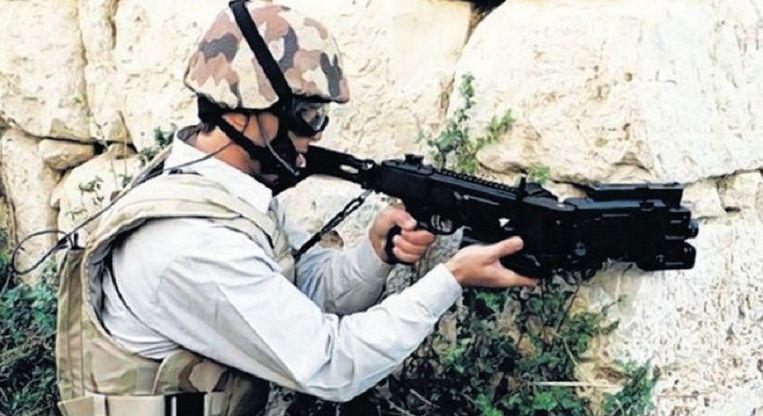null Beeld De `cornershot¿, een Israëlisch wapen.