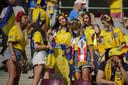 Oekraïense supporters in Boekarest.