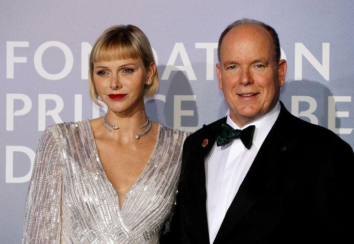 Prins Albert II en prinses Charlène.