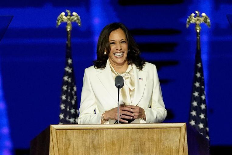 De aankomende vicepresident van de Verenigde Staten Kamala Harris. Beeld EPA