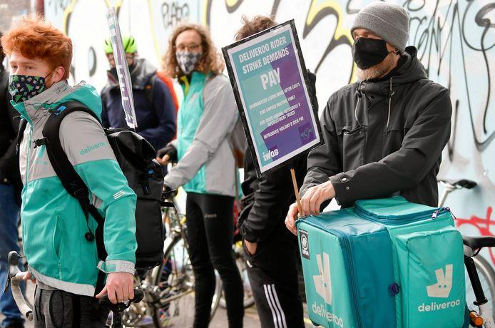 Vandaag staken Deliveroo-werknemers in het Verenigd Koninkrijk.