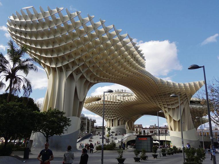 Metropol Parasol in Sevilla , 'de paddestoelen van Encarnación'.  Beeld Bernard Lafond / KNNV Uitgeverij