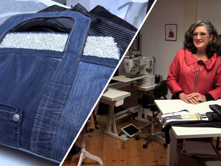 Marjon maakt van kleding overleden dierbare een nieuwe creatie: 'Een mooie herinnering'