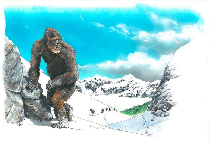 Yeti, tekening door Stefano Maugeri.