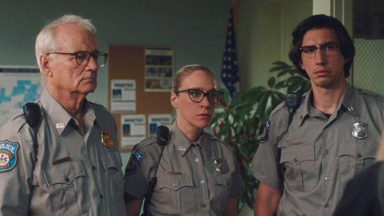Vanaf links: Bill Murray, Chloë Sevigny en Adam Driver in The Dead Don't Die. Beeld