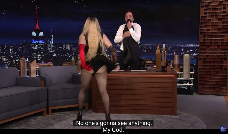 Madonna bij Jimmy Fallon Beeld youtube