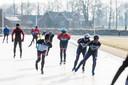 Schaatsen bij de schaatsclub Winterswijk.