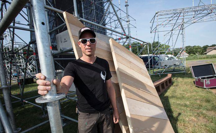 Bjorn Berkers heeft ook regelmatig podia en decors gebouwd voor het festival Wish in Beek en Donk.
