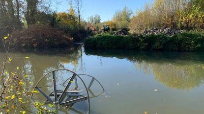 Vandalen duwen voor tweede keer stalen bobijn in Dender
