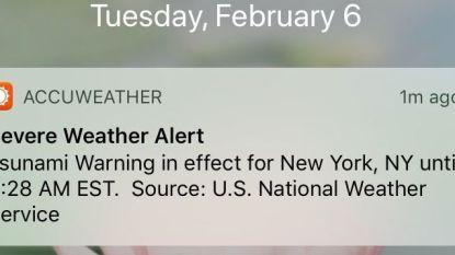 """Opnieuw krijgen Amerikanen vals alarm op hun smartphone: """"Tsunami-waarschuwing voor New York"""""""