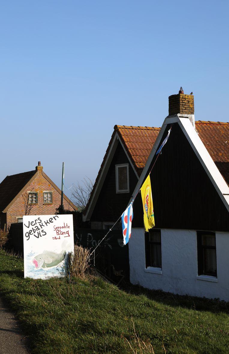 Laaksum: een handvol huisjes en een forse boerderij in de Friese Zuidwesthoek. Beeld Jan-Dirk van der Burg