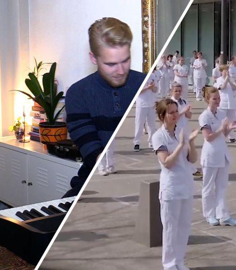 Studenten Rockacademie maken lied voor zorgpersoneel: 'Het komt uiteindelijk allemaal weer goed, ook al lijkt het nu uitzichtloos'
