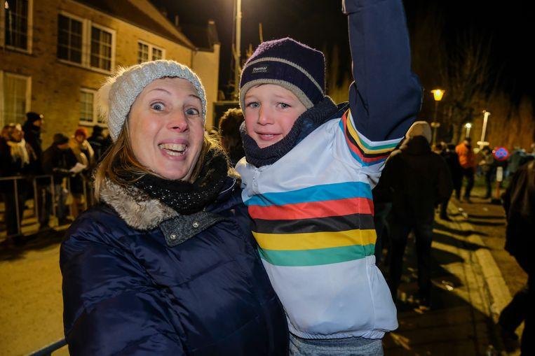Sandra uit Wemmel, met zoontje Lenno (4).