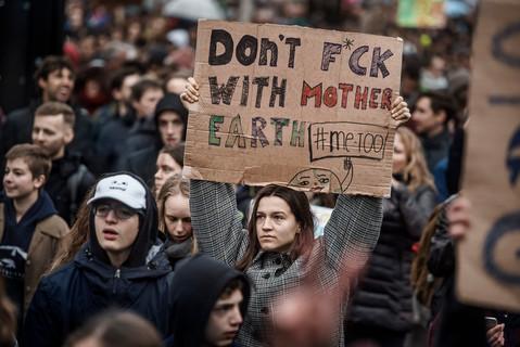 """Foto van Enkele sfeerbeelden van de """"Global Strike for Future"""""""