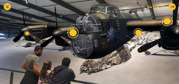 De restanten van de Lancaster zijn te bewonderen in het Oorlogsmuseum van Overloon.