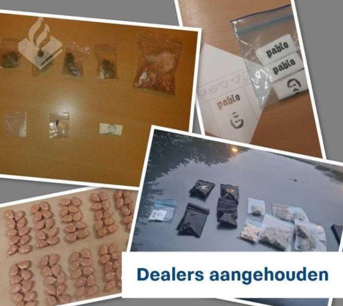De gevonden drugs bij aanhoudingen in Zoetermeer.