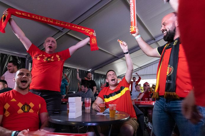 Een illustratiebeeld van Belgische voetbalsupporters.