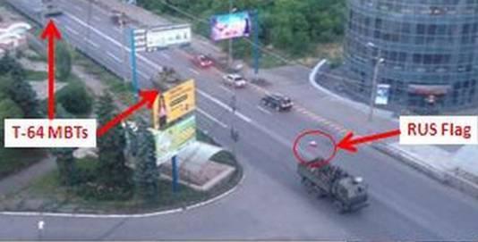 Het bewijs van de BUKS in Oost-Oekraine, transport uit Rusland.