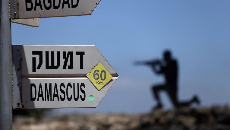 Wegwijzers op de Golanhoogte.