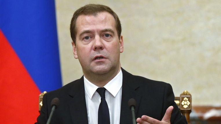De Russische premier Dmitri Medvedev heeft op eergisteren zijn handtekening gezet onder het nieuwe decreet. Beeld ap