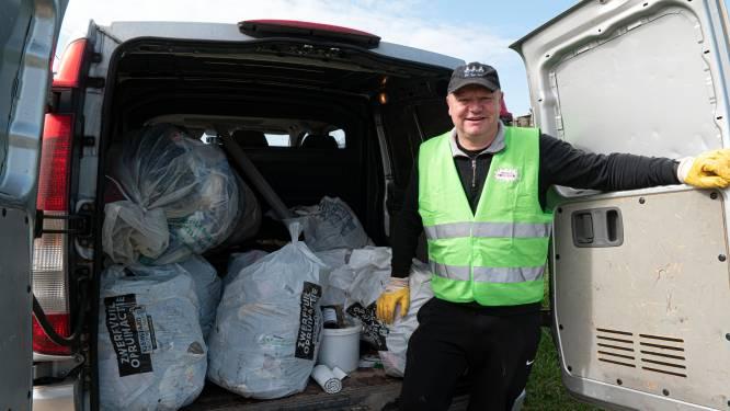 Ruim 200 vuilniszakken met zwerfvuil opgehaald in Tielt-Winge