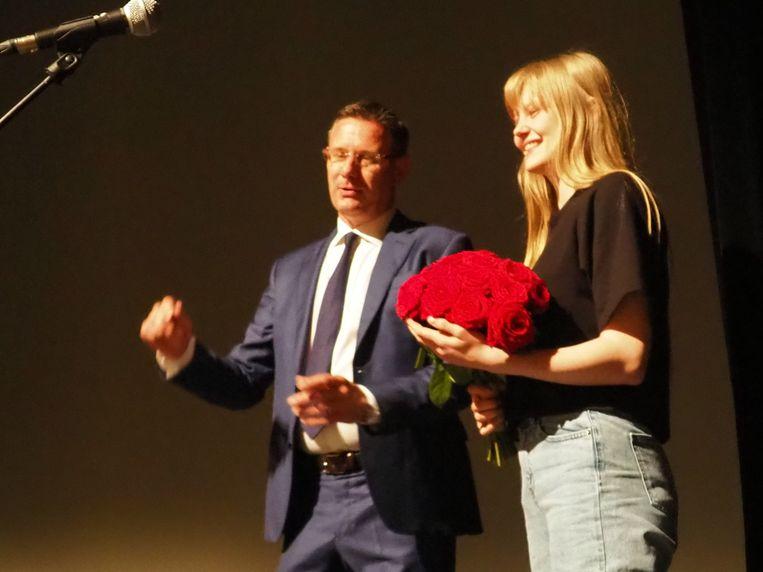 Schepen Kurt Himpe zette actrice Anke Vanbrabant in de kijker.