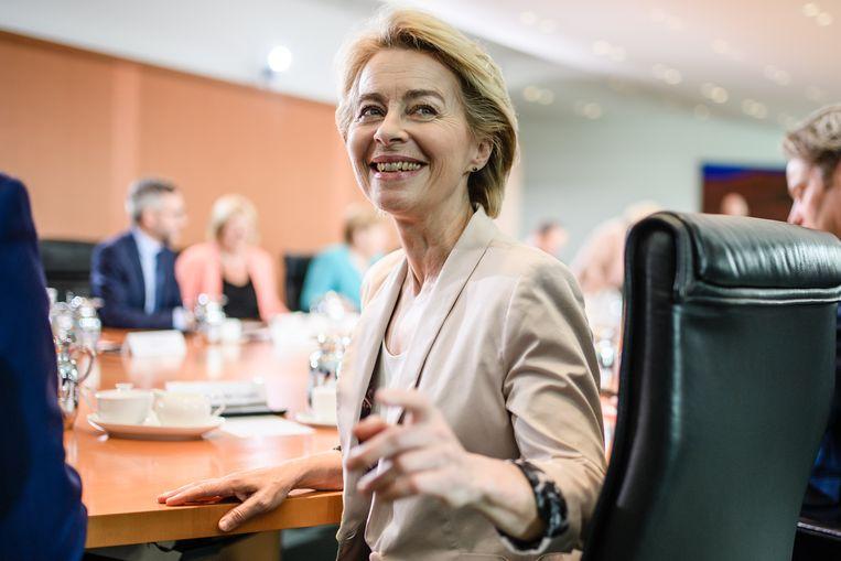 Ursula von der Leyen, pas verkozen als voorzitter van de Europese Commissie. Beeld EPA