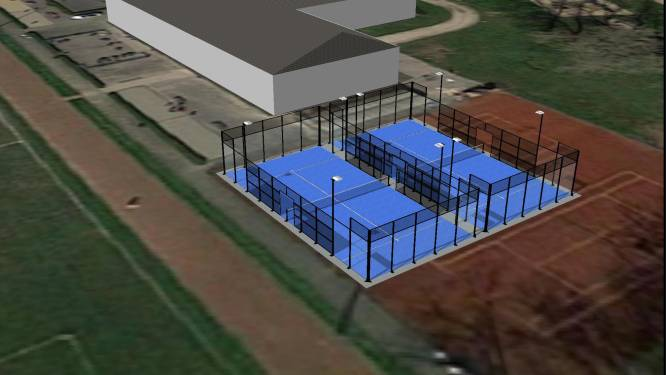 Nieuwe padelvelden Watewy vanaf juni bespeelbaar