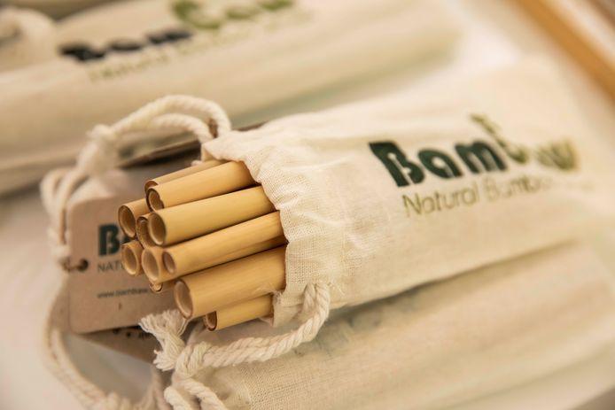 Bamboe rietjes.