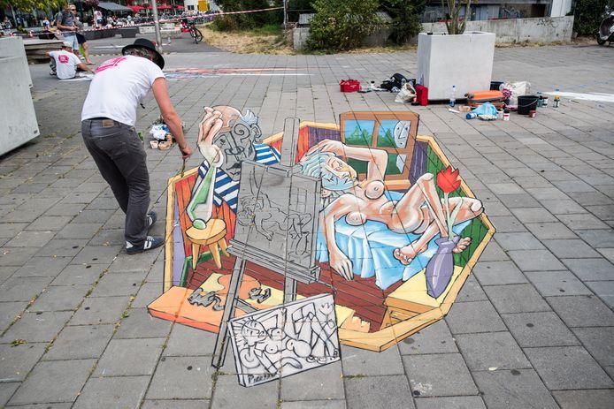 world street painting, arnhem centrum.