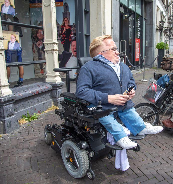 Rick Brink in Zwolle: een van de vijf gemeenten die nog kans maken op de titel Meest Toegankelijke Gemeente van Nederland.
