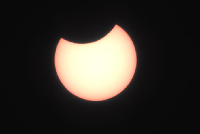 Eclips, gezien vanaf de Loskade in Middelburg.