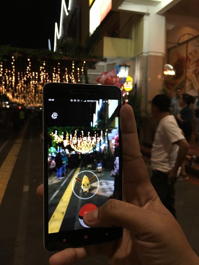 Een printscreen van het spelletje Pokémon Go. Beeld Travel Smart