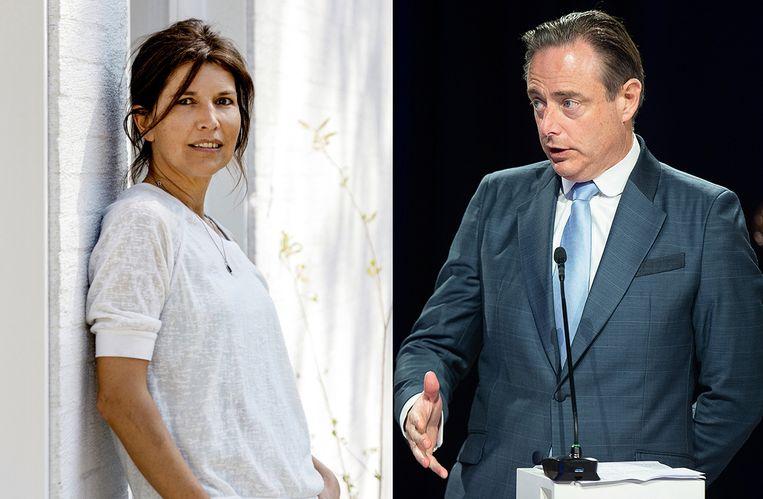 Kamerlid Valerie Van Peel en N-VA-voorzitter Bart De Wever.