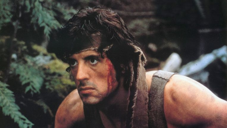 Sylvester Stallone in First Blood. Beeld