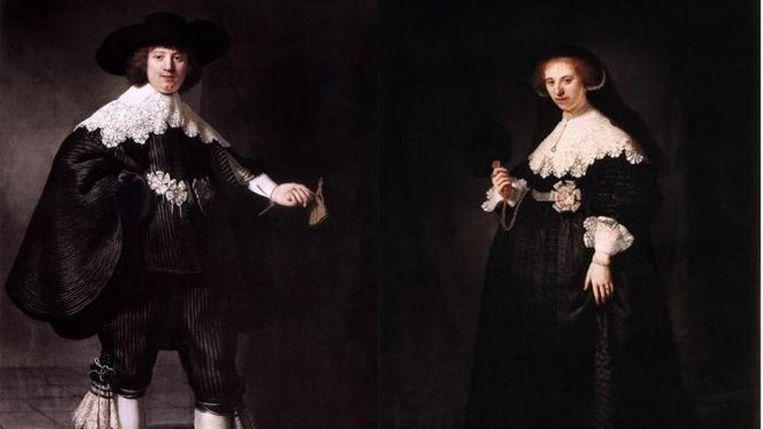 De twee Rembrandt-schilderijen die waarschijnlijk terug naar Nederland komen. Beeld null