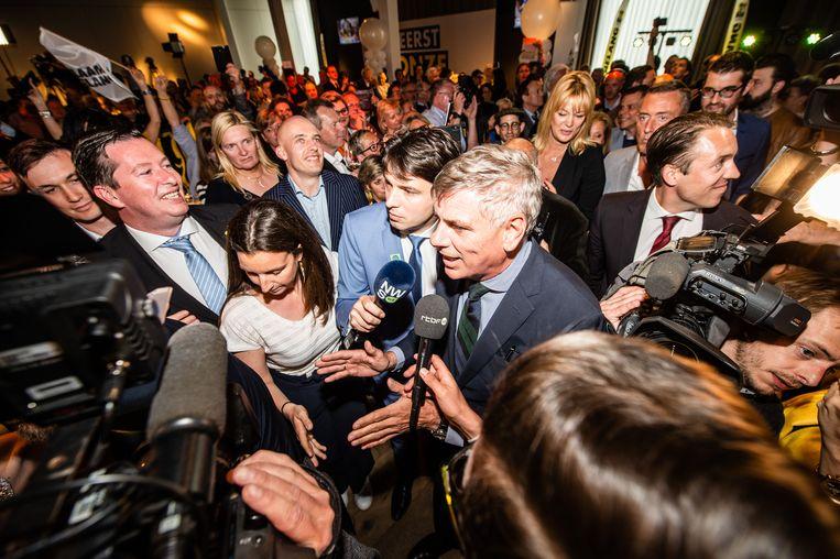 Filip Dewinter mag zich een van de grote overwinnaars van de verkiezingen noemen. Beeld BELGA