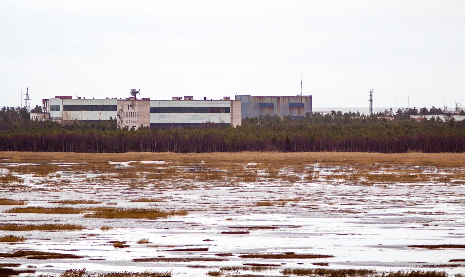 De militaire basis in Nyonoska, in de regio Arkhangelsk.