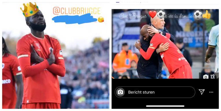 De aangepaste versies op de Instagramstories van Lamkel Zé.
