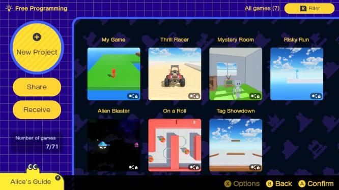 GAMEREVIEW. Nintendo laat je spelenderwijs zelf games maken met Gamestudio